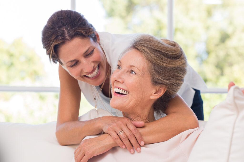 Zdjęcie pokazujące matkę i córkę